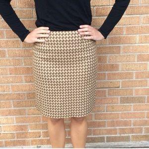 Talbots houndstooth tweed skirt